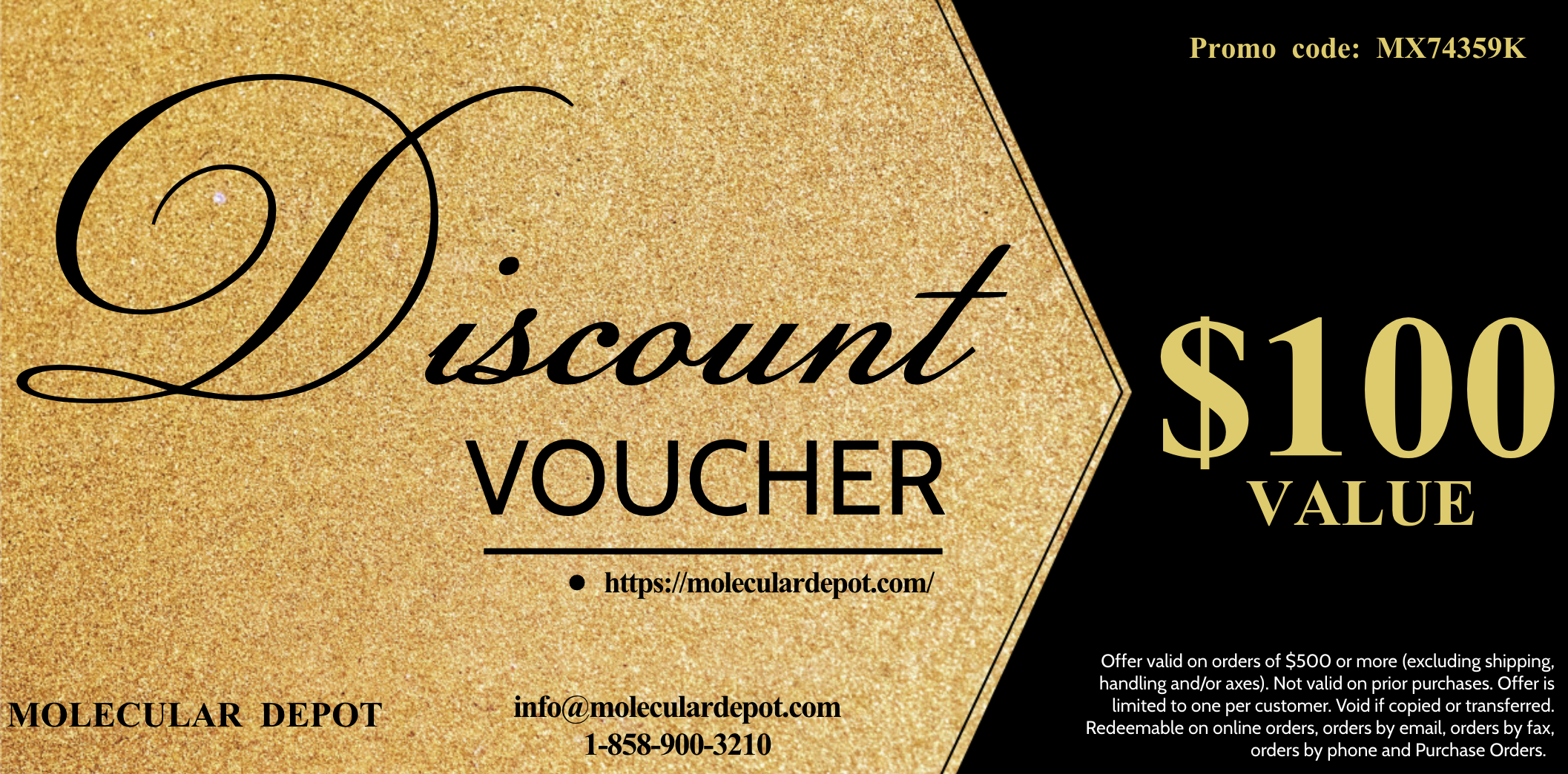 $100 Discount Voucher